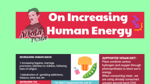 Nikola Tesla-On Increasing Human Energy(Infographic)